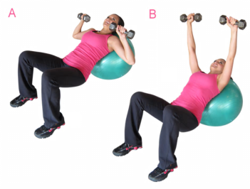 exercise ball press